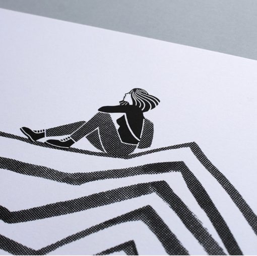 Peak Screen Print Black by Laurie Hastings