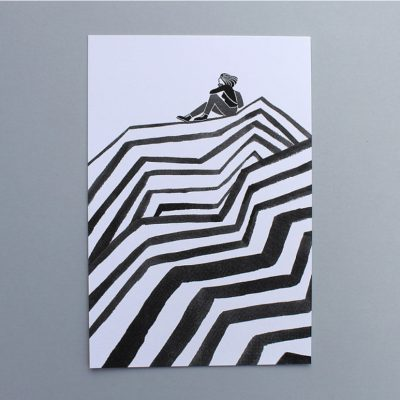 Peak Screen Print Black by Laurie Hastings