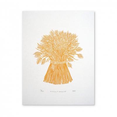 Wheatsheaf Linocut by Jeff Josephine Design
