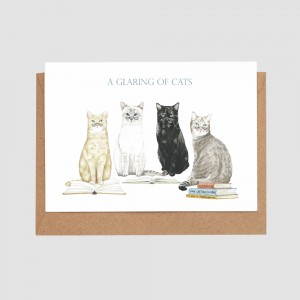 a-glaring-of-cats-card-by-mr-peebles