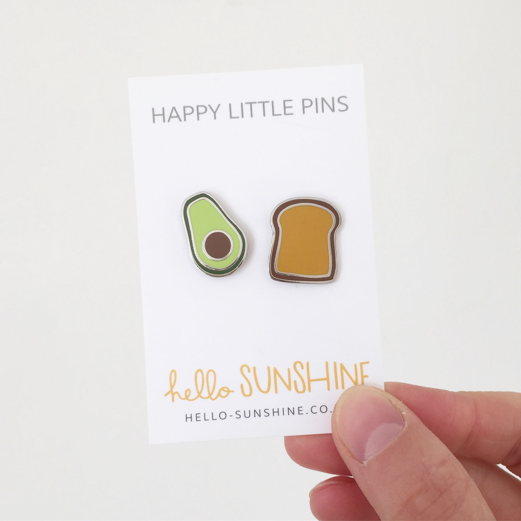 Avocado on Toast Enamel Pin Set by Hello sunshine
