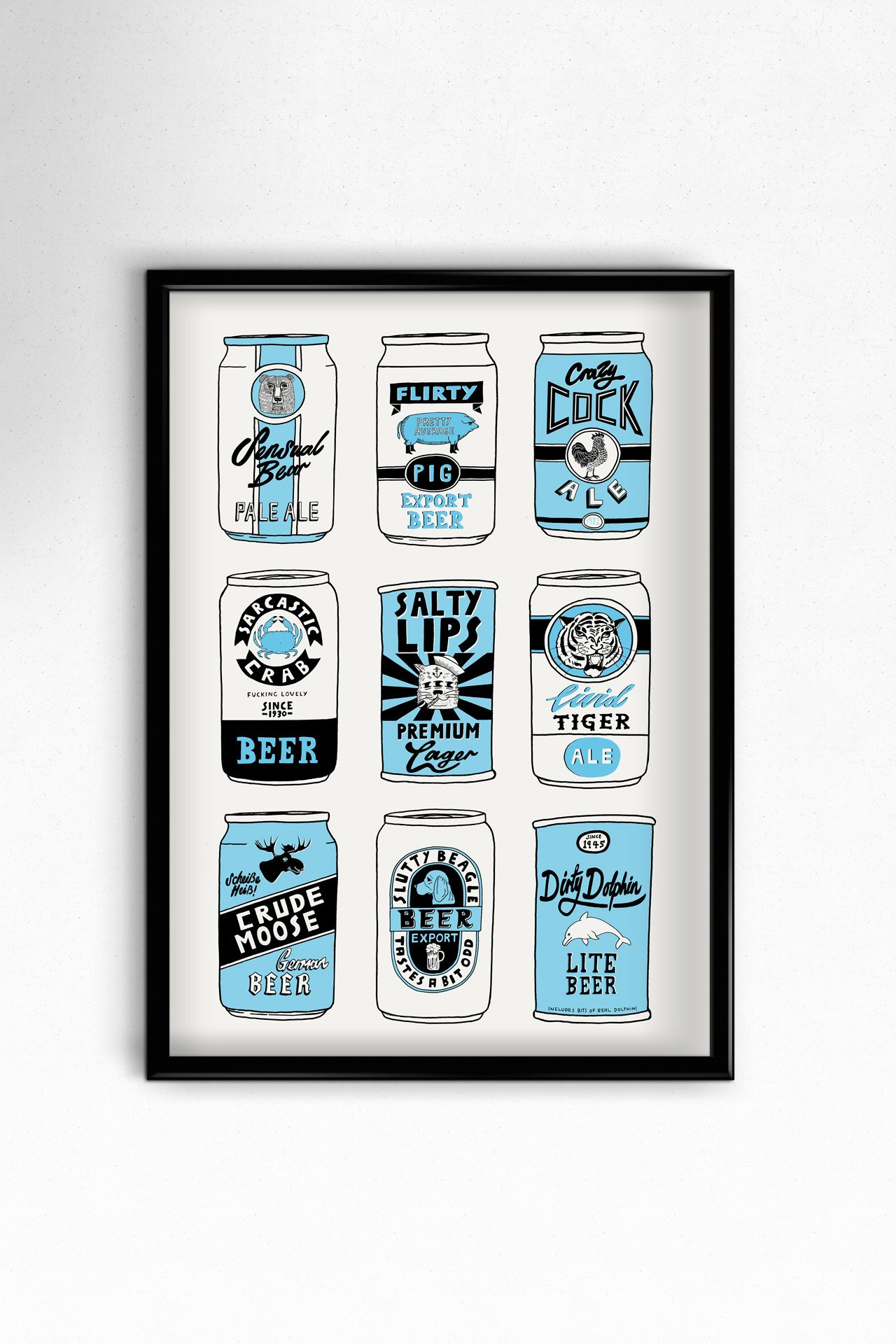 Beer Cans A3 Print - ►Top Sellers, Framed Prints (approx A3 Size), Giclée,  Gocco & Digital Prints, Food, Drink & Home, For Guys - The Red Door Gallery