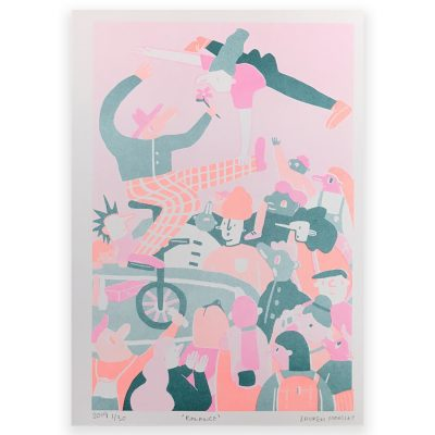 Balance Riso Print by Lauren Morsely