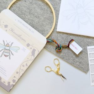 Bee Contemporary Embroidery Kit by Hawthorn Handmade