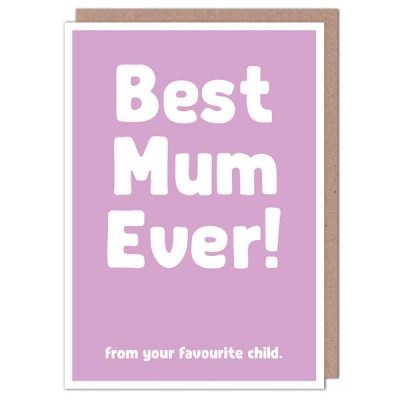 Best Mum from Favourite Child by The Spork Collection