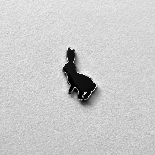 Bouncing Bunny Enamel Pin by HamMade