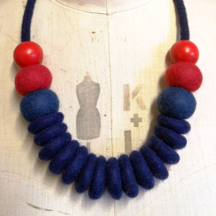 Merino Wool and Rope Necklace by Lynsey Walters