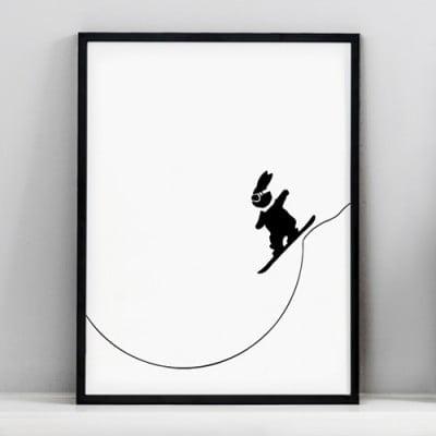 BunnySnowboarding