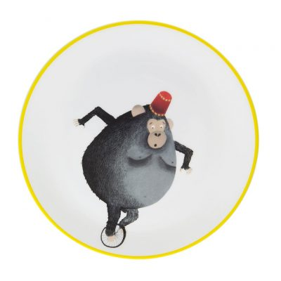 Circus monkey plate