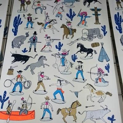 Cowboys Print