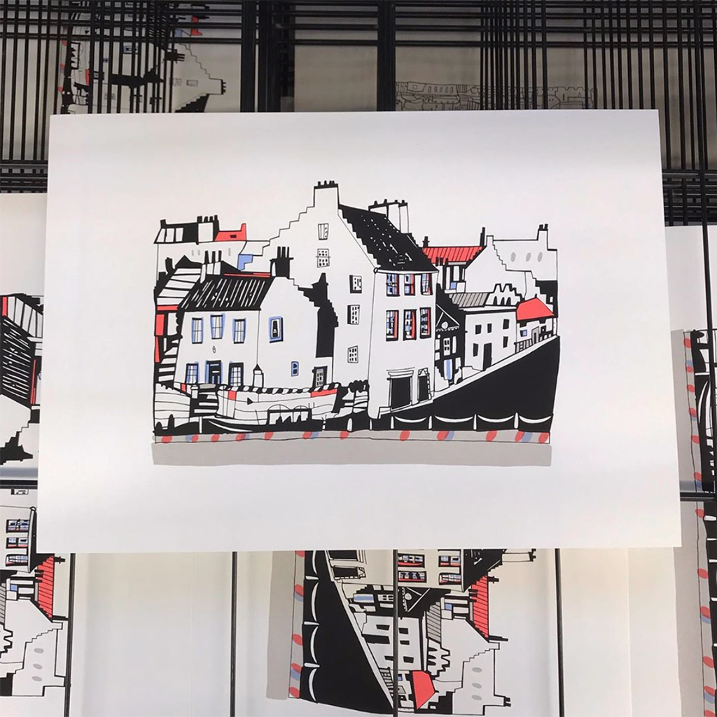Crail Screen Print by Susie Wright
