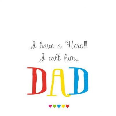 Dad Hero Card by allihopa at the red door gallery