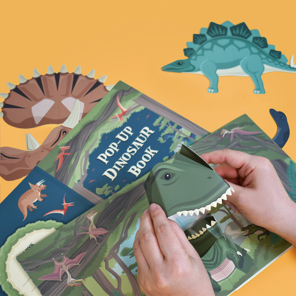 Make Your Own Pop Up Dinosaur Book Books Zines For Kids