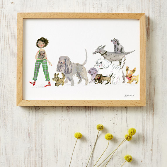 Dog Lovers A4 Print Ready Framed Prints Framed Prints A4 Size