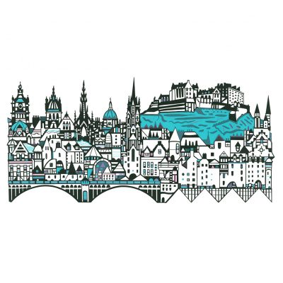Edinburgh Skyline by Susie Wright