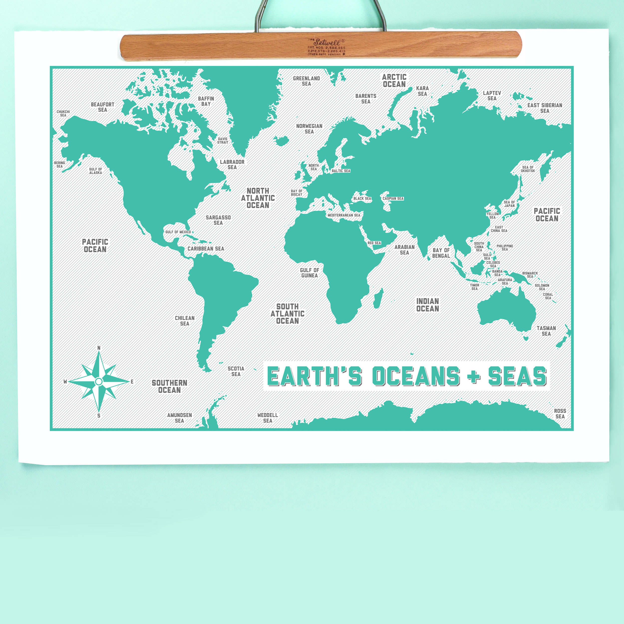 Earth\'s Oceans Print - 2 sizes - Giclée, Gocco & Digital Prints, Life At  Sea, ►Sale Products - The Red Door Gallery - Art Prints, Design Products  and ...