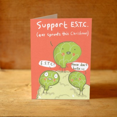 Eat Sprouts Christmas Card