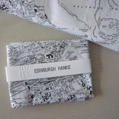 Edinburgh City Map Hankie