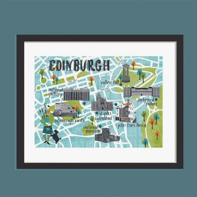 Edinburgh Map A3 Print