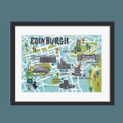 Edinburgh Map A3 Print