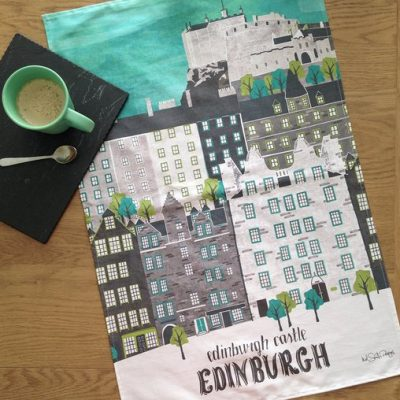 Edinburgh castle teatowel