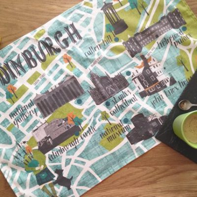 Edinburgh map teatowel