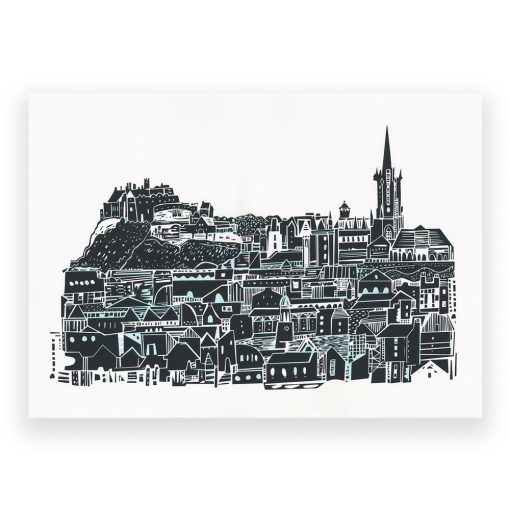 Edinburgh City Skyline Screen Print by Susie Wright
