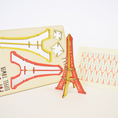 Eiffel Tower - made - pop out card