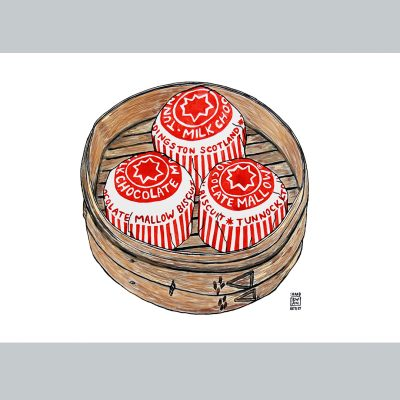 Popular Scottish Teacakes in a Dim sum Basket.