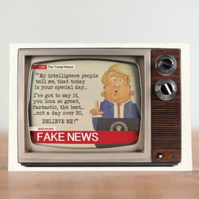 Fake News Greeting Card