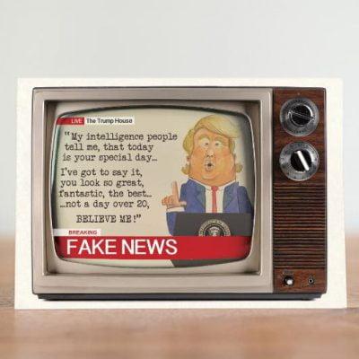 Fake News Greeting Card