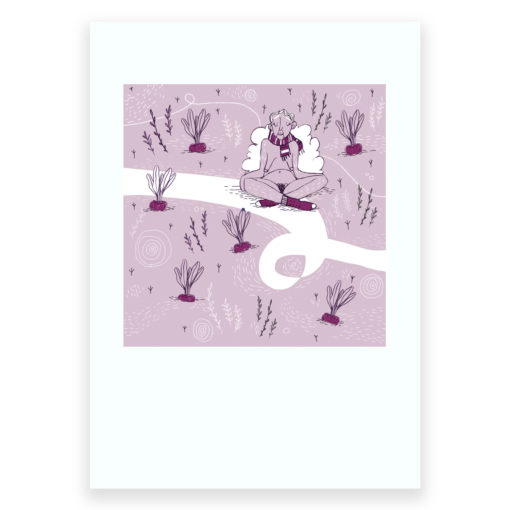 February Screen Print by Seobhan Hope