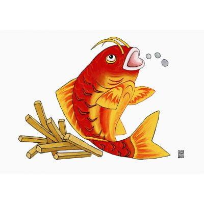 Fish 'n' Chips Greetings Card