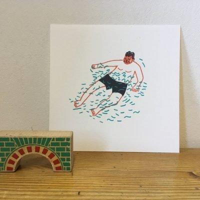 Floating Man print
