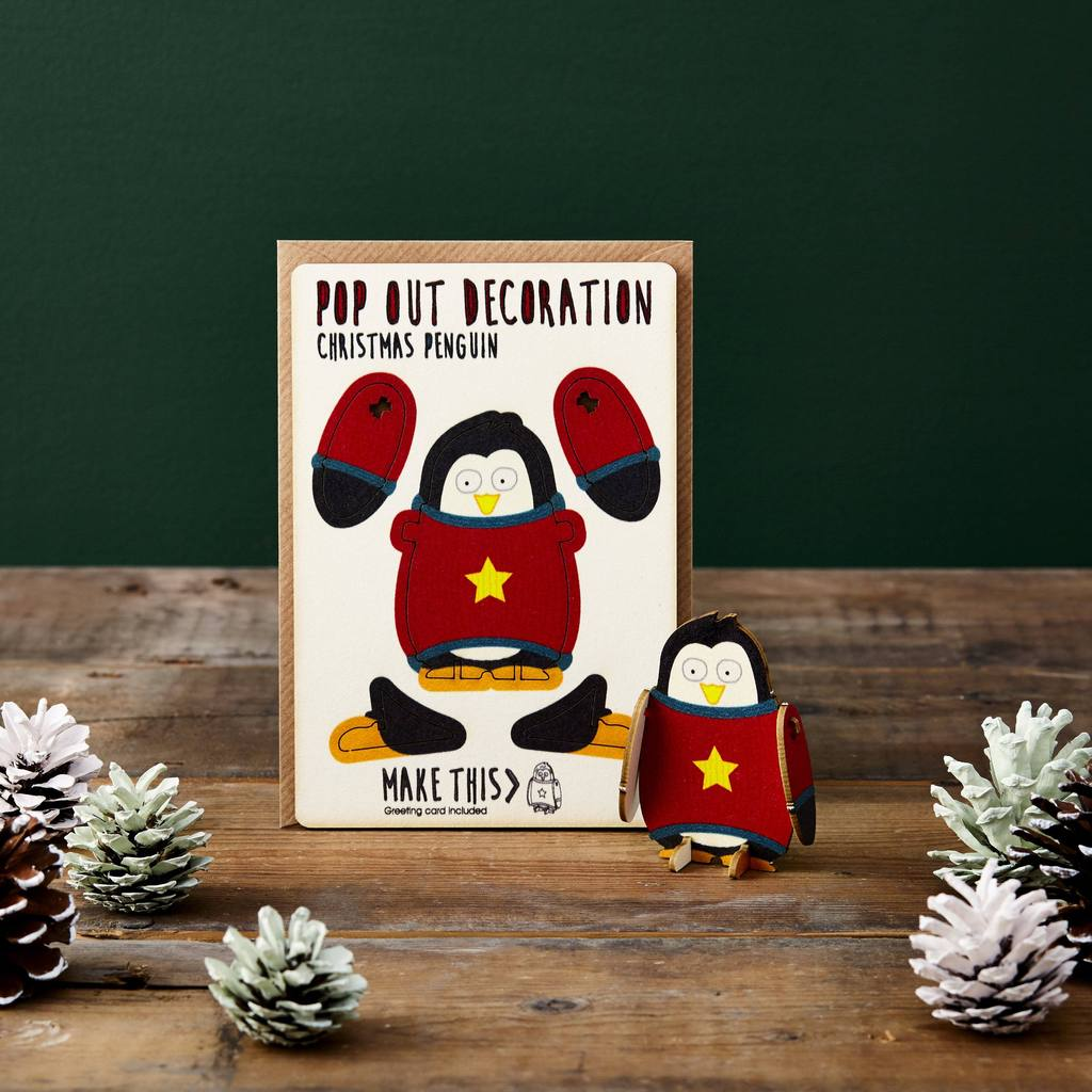 Popout Card christmas Penguin for Crafternoon Fun