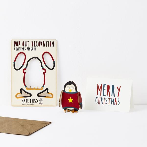 Popout Card christmas Penguin
