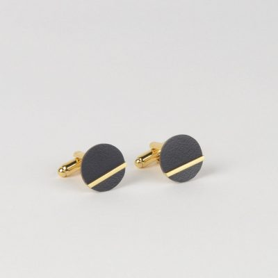 Form Circle cufflinks Midnight