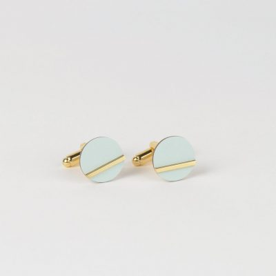 Form Circle cufflinks ice