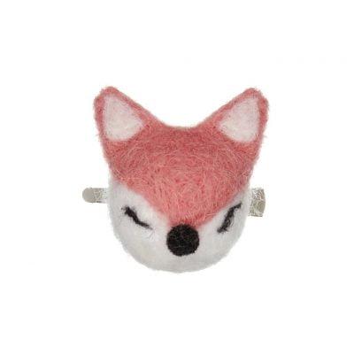 Fox Pom Pom Hair Clip