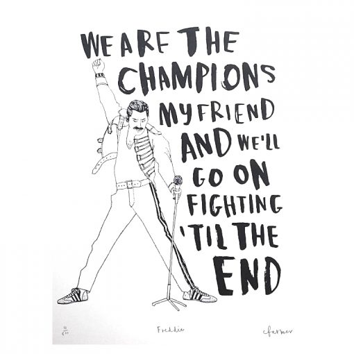 Freddie Mercury Screen Print by Charlotte Farmer