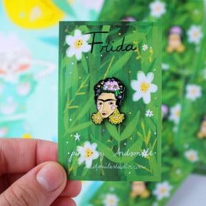 Frida Kahlo, Pin Badge, Brooch, Frida, Feminist, Strong Woman, Influential artist
