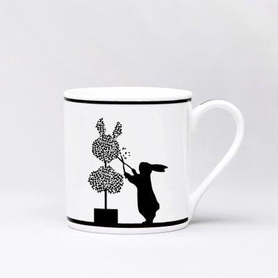 Gardening Rabbit Mug Front