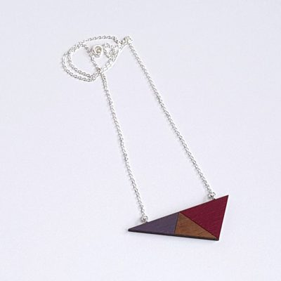 Geo Triangle Plum