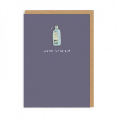 Gin enamel pin card