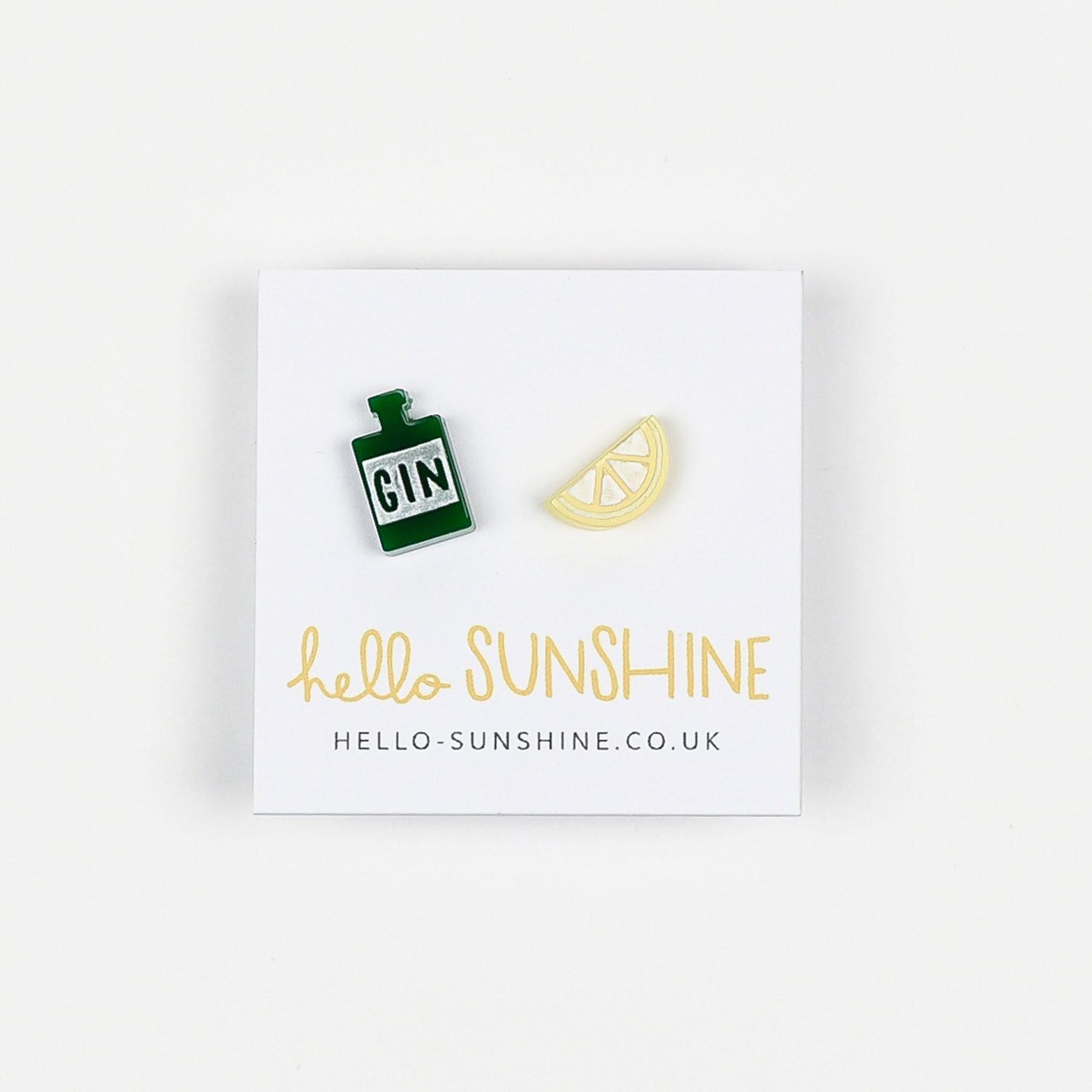 Gin n Juice Earrings by Hello Sunshine