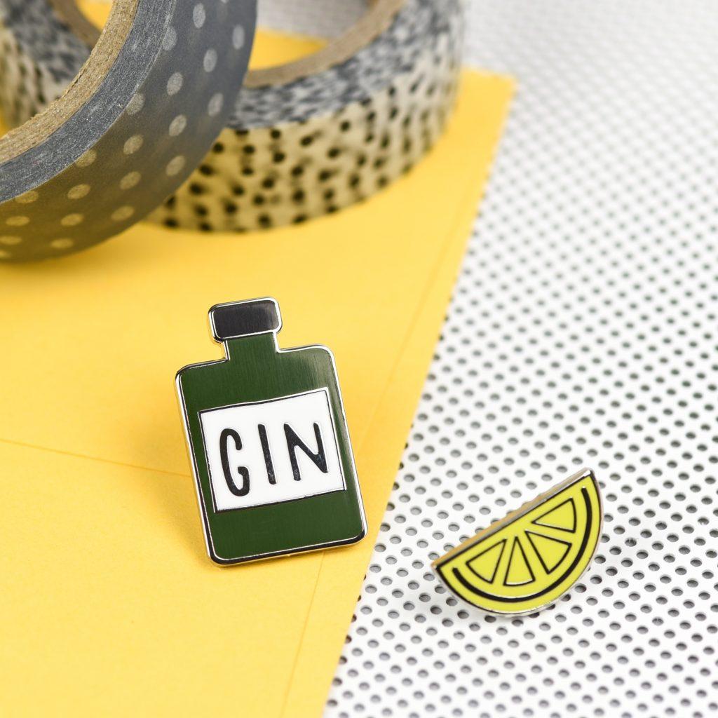 Gin 'n' Juice Pin Set by Hello Sunshine