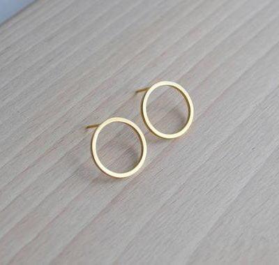 Gold Vermeil Circle Studs