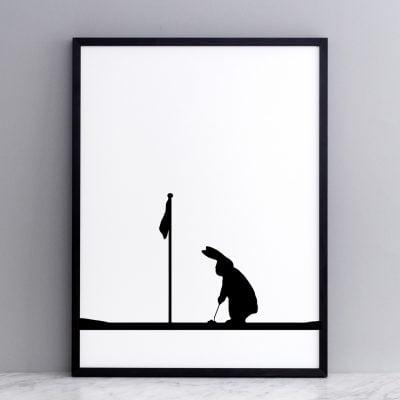 Golfing rabbit
