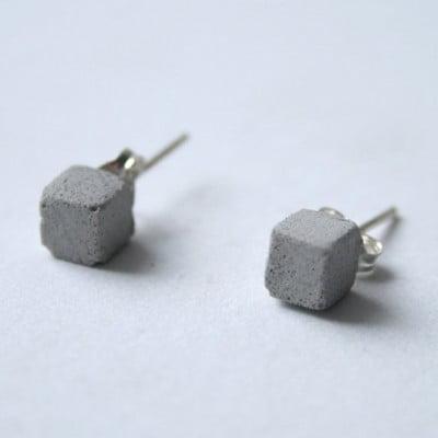 Grey Concrete Studs Cubes
