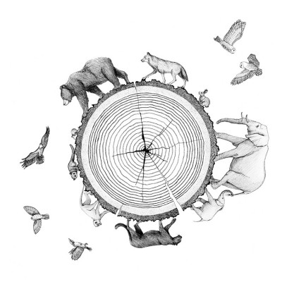 Habitat print by Maria Rikteryte